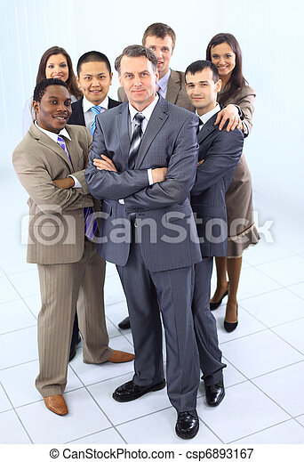 multi ethnic mixed adults corporate business people team  - csp6893167