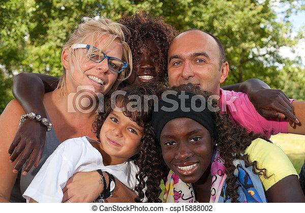 Multi etnic family - csp15888002