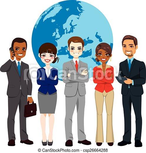 multi, global, businesspeople, ethnique, équipe - csp26664288
