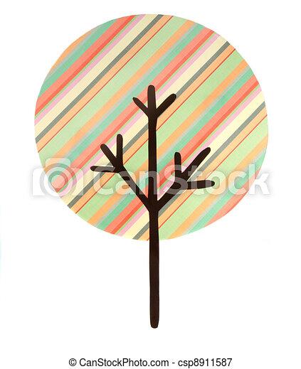 multi, knippen, boompje, gestreepte , uit - csp8911587