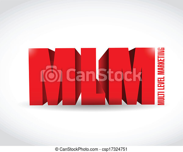 multi level marketing sign illustration design - csp17324751
