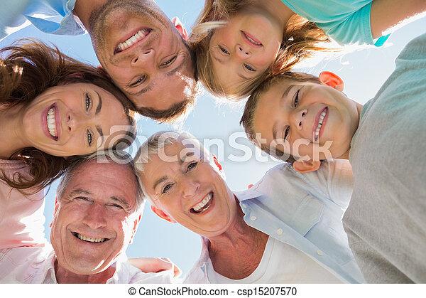 multi, sorridente, generazione, famiglia - csp15207570