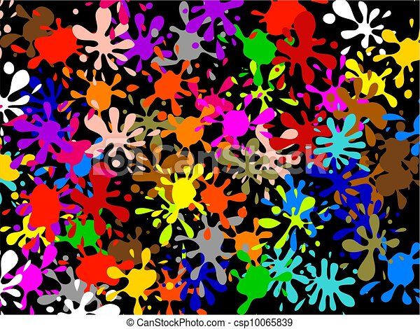 Multi Splatter Wallpaper Colourful Abstract Graffiti Wallpaper