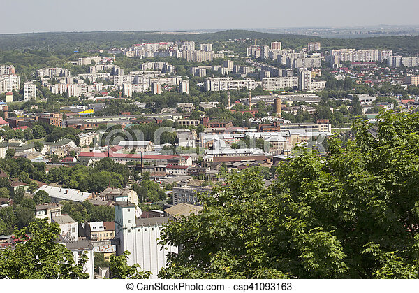 Multi-storey buildings in Lviv - csp41093163