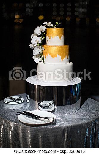 Multi Wasserwaage Hochzeit Kuchen Tisch Blumen Silber Multi