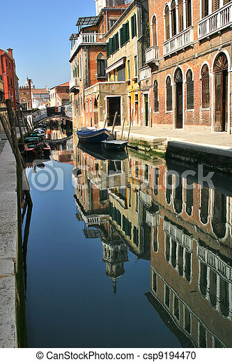 Multicilored houses. Venice, Italy. - csp9194470