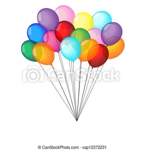 Multicolor balloons  - csp12372231