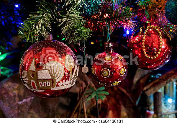multicolor, decorazioni natale - csp64130131