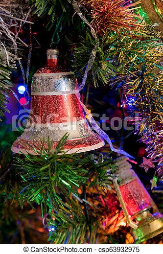 multicolor, decorazioni natale - csp63932975