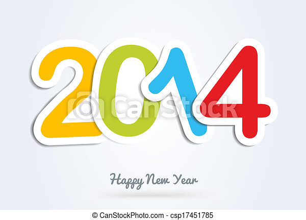 Multicolor happy new year 2014 greeting card diversity colors happy multicolor happy new year 2014 greeting card csp17451785 m4hsunfo