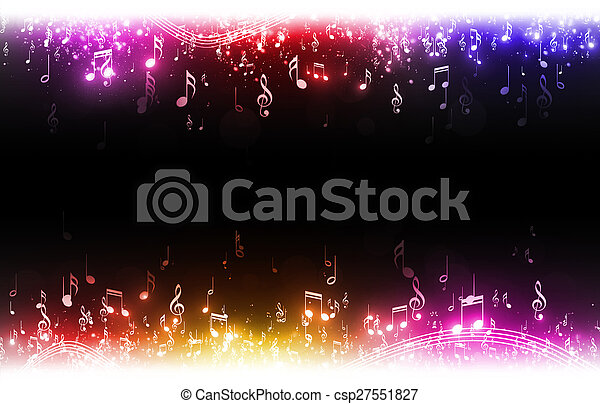 Multicolor Music Notes Background - csp27551827