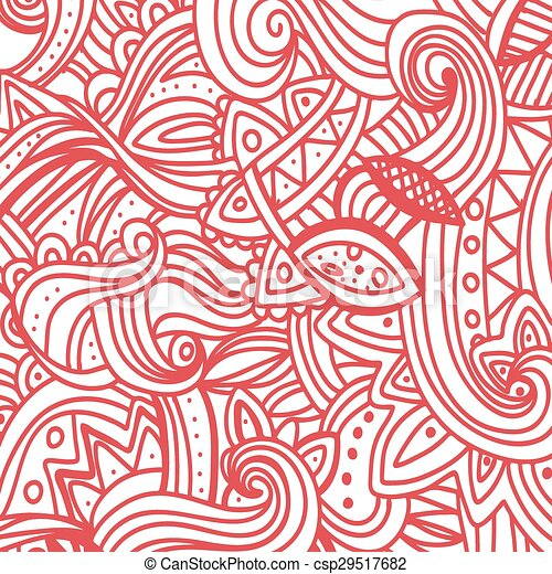 Multicolor Pattern Doodles- Decorative Sketchy Notebook Design- Hand-Drawn Vector Illustration Background. - csp29517682