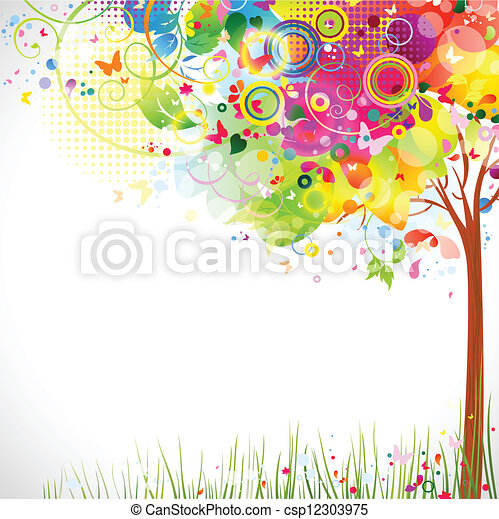 multicolor tree  - csp12303975