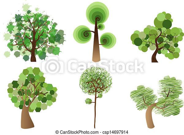 Multicolor tree set - csp14697914