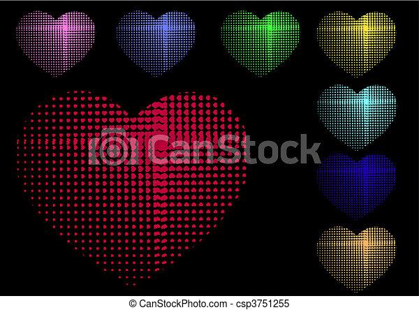 multicolore, cuori - csp3751255