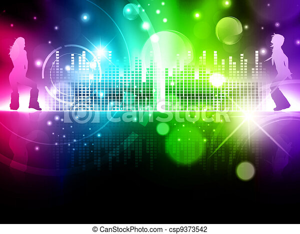multicolored abstract disco background - csp9373542