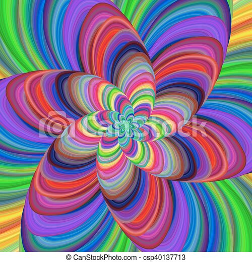 2e0624f667 Multicolored abstract fractal spiral background. Multicolored ...