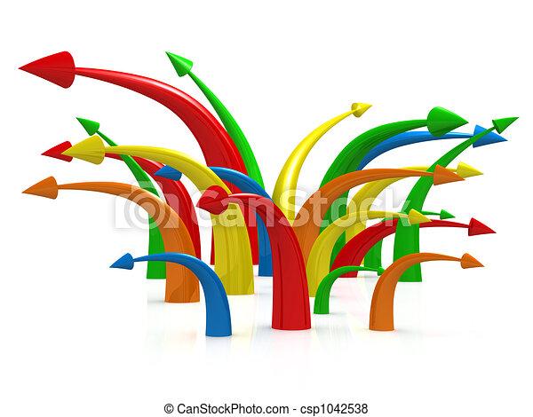 Multicolored Arrows - csp1042538
