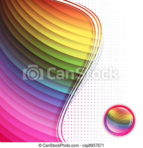 multicolored background in frame - csp8937671