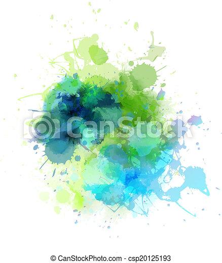 Multicolored blot - csp20125193