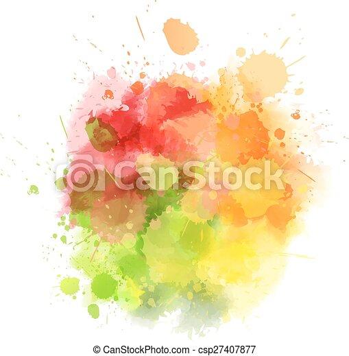 Multicolored blot - csp27407877