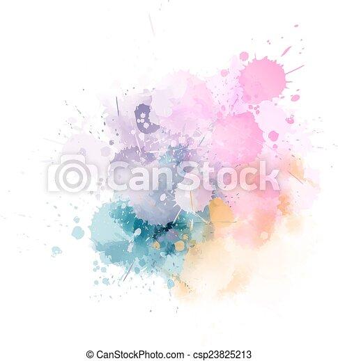 Multicolored blot - csp23825213