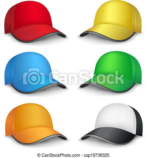 multicolored caps - csp19738325