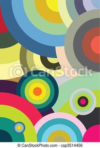 Multicolored circles - csp3514456