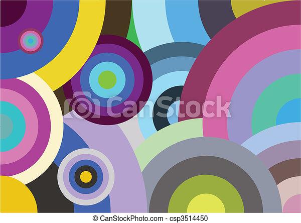 Multicolored circles - csp3514450