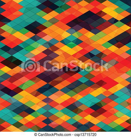 multicolored diamond seamless - csp13715720