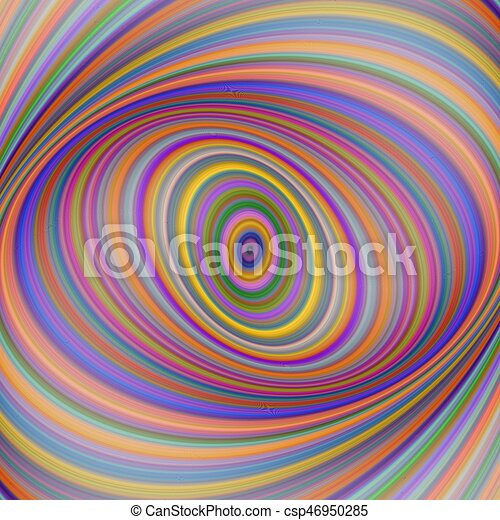Multicolored ellipse fractal art background - csp46950285