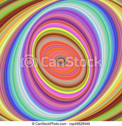 Multicolored elliptical digital fractal background - csp49828449