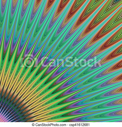 Multicolored fractal background art - csp41612681