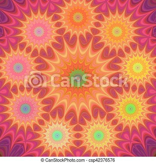Multicolored fractal mandala background - csp42376576