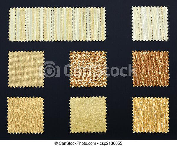 Multicolored furniture fabric samples - csp2136055