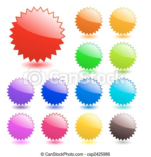 Multicolored glossy web elements. Perfect for adding text, icons. Vector aqua style. More in my gallery. - csp2425986