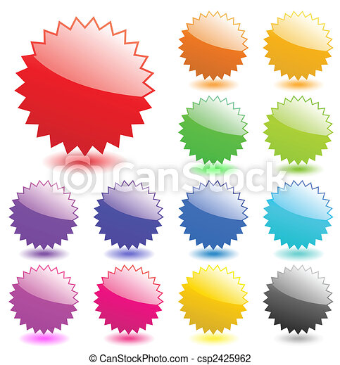 Multicolored glossy web elements. Perfect for adding text, icons. Vector aqua style. More in my gallery. - csp2425962