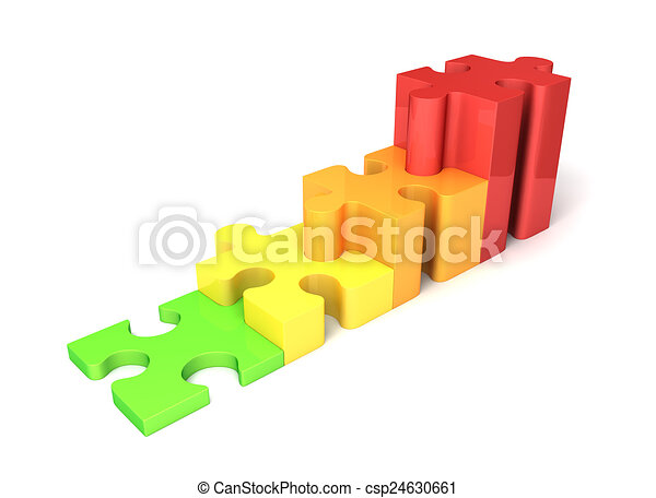 multicolored growing puzzle graph - csp24630661
