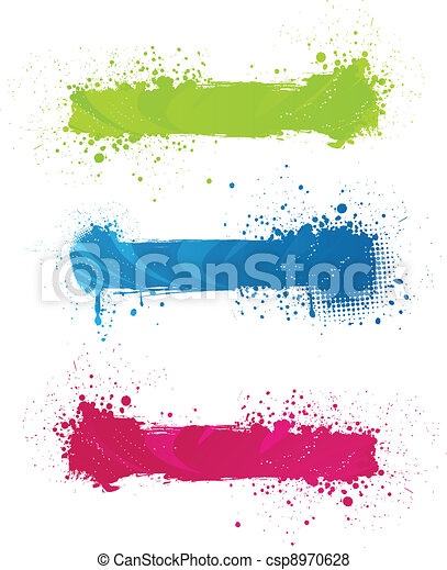 Multicolored grunge banners - csp8970628