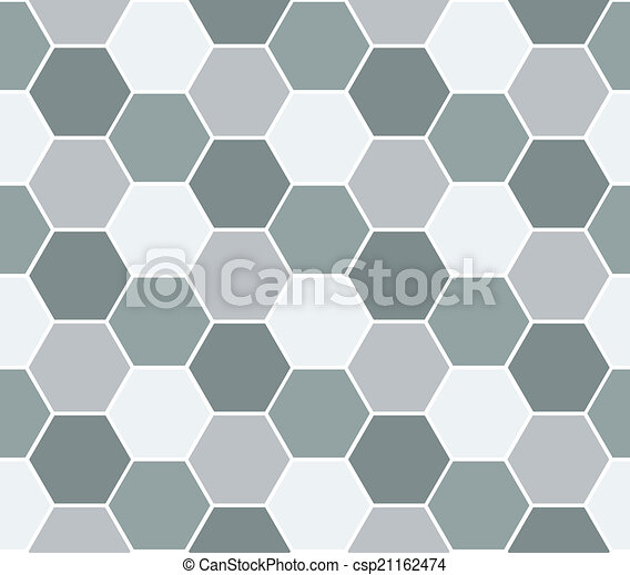 Multicolored hexagon geometric seamless background. - csp21162474