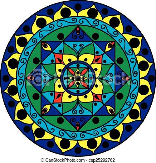 multicolored mandala - csp25292762
