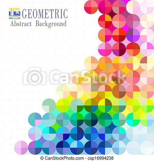 Multicolored mosaic background - csp16994238