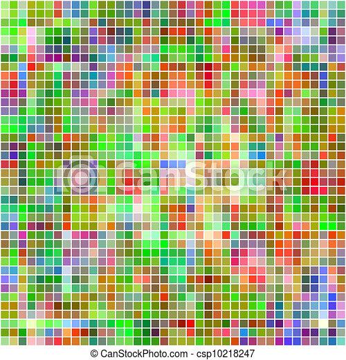Multicolored mosaic square tiles background. - csp10218247