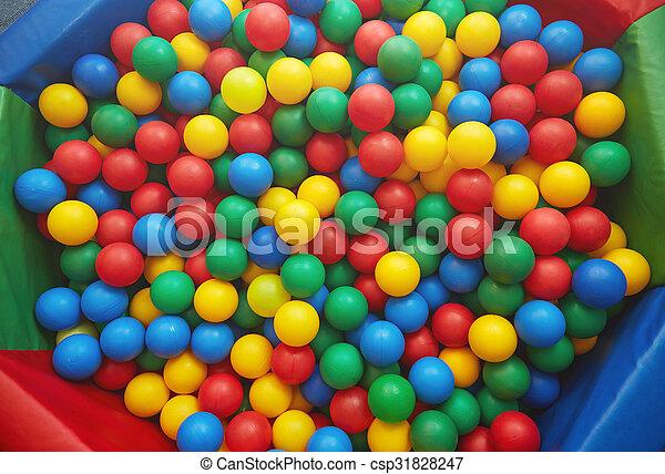 Multicolored plastic balls - csp31828247