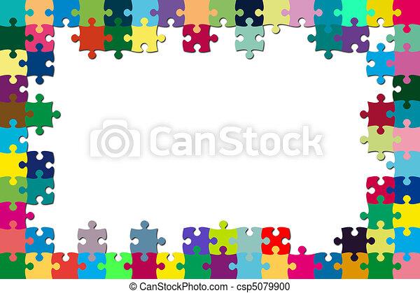 Multicolored puzzle frame - csp5079900