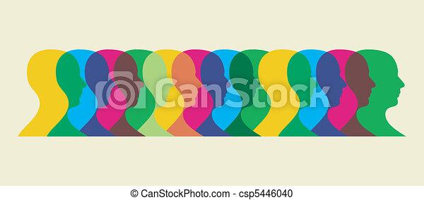 multicolored social interaction - csp5446040