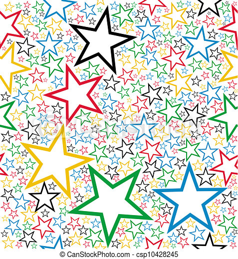 Multicolored stars seamless pattern - csp10428245