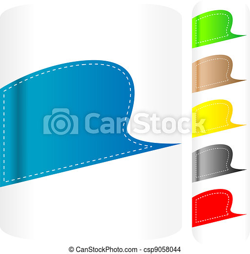 Multicolored stickers set. Vector label - csp9058044
