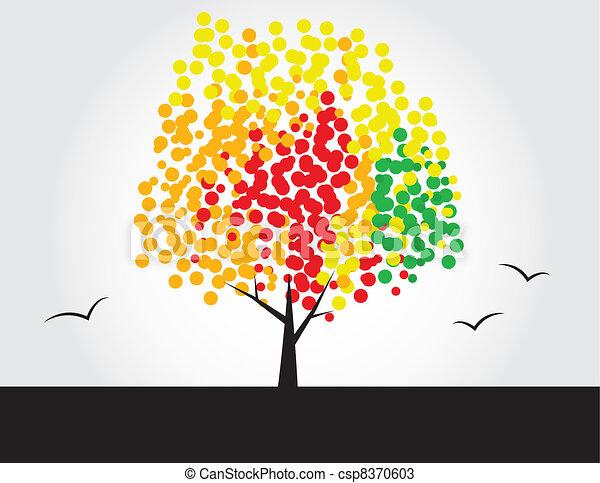 Multicolored tree - csp8370603