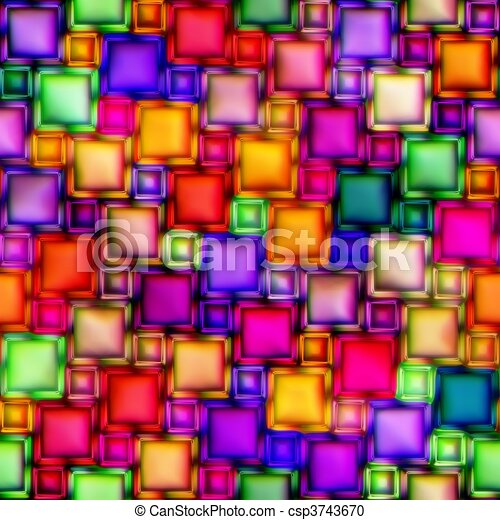 Stock Illustration of multicolour stained glass seamless texture